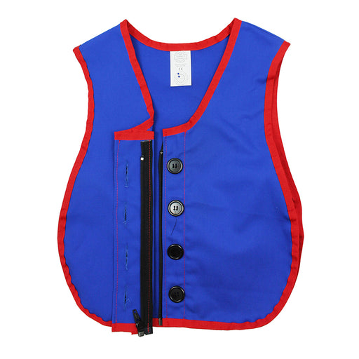 Manual Dexterity Button Zipper Vest
