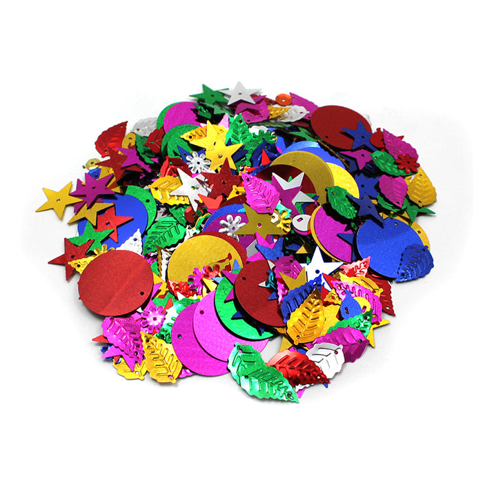 Glittering Sequins W Spangles 4oz Resealable Bag - Supplies by Teachers