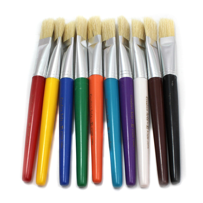 Brushes Stubby Flat 10 Set - Supplies by Teachers