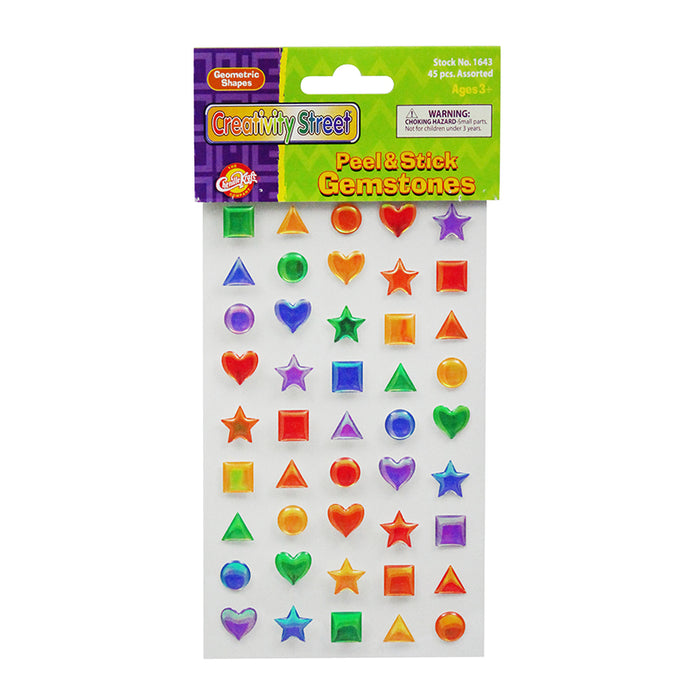Scrapbookin Kids Gemstones Shapes Peel & Stick - Supplies by Teachers