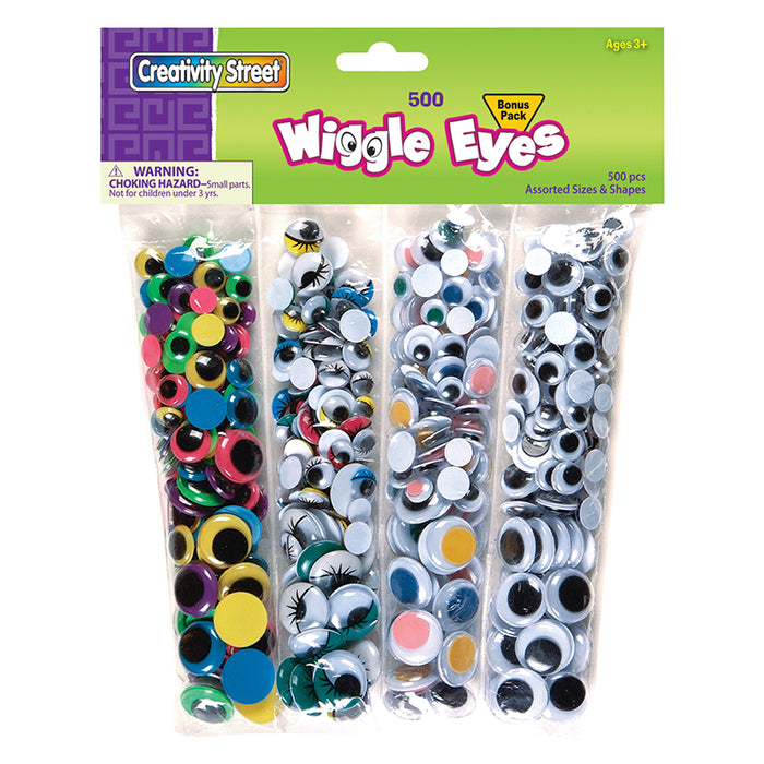 Wiggle Eyes 500 Asst. - Supplies by Teachers