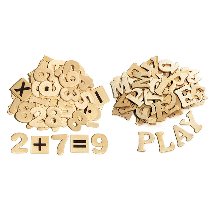 Wood Letters & Numbers - Supplies by Teachers