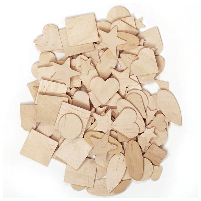 Wooden Shapes 350 Pieces - Supplies by Teachers