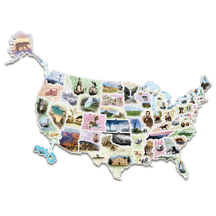 Wonderfoam Giant Usa Photo Puzzle Map - Supplies by Teachers