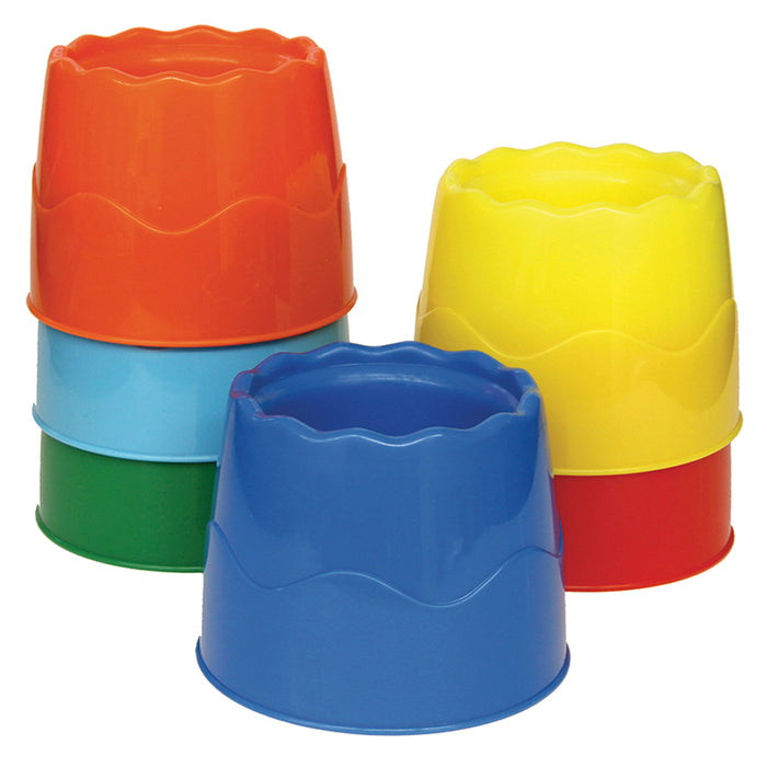 Stackable 6 Set Water Pots Asst Colors 4.5 X 3.5 - Supplies by Teachers