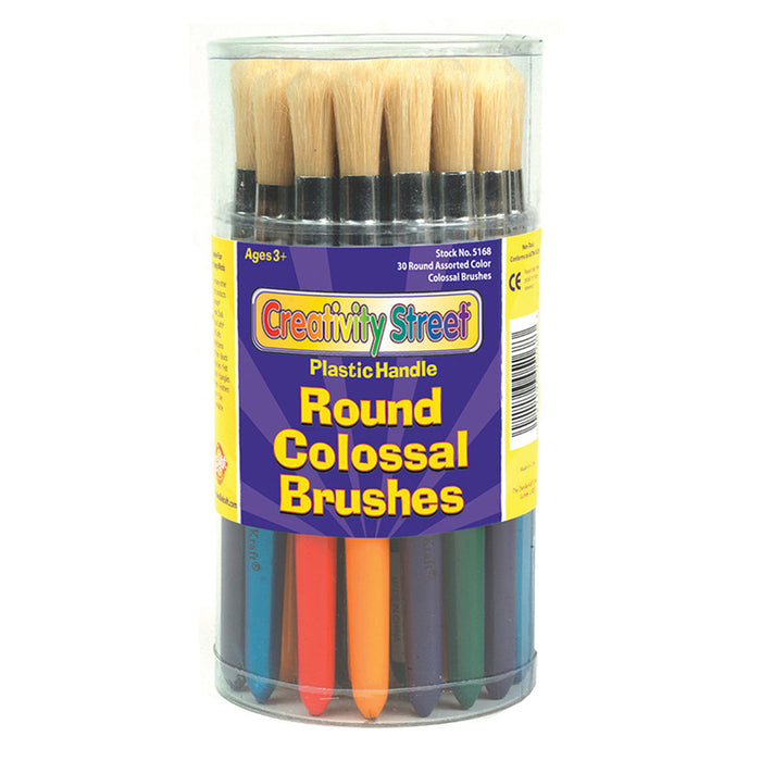 Colossal Round Plastic Handle Brush Assortment-Multi - Supplies by Teachers