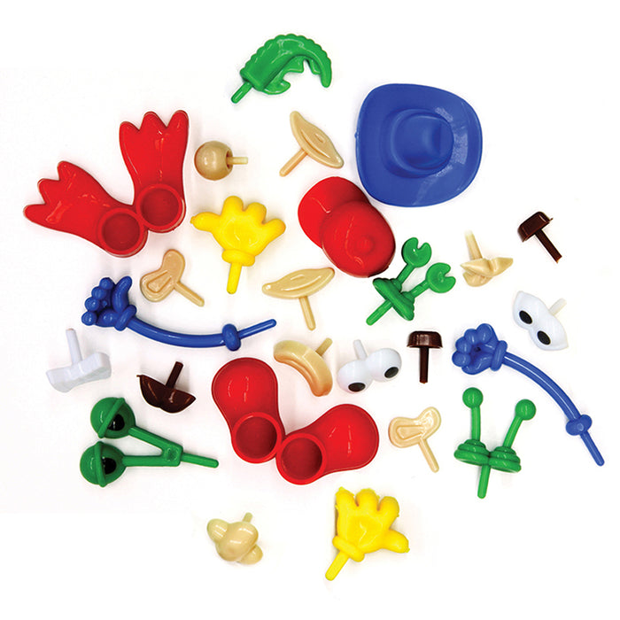 Modeling Dough And Clay Body Parts Accessories - Supplies by Teachers