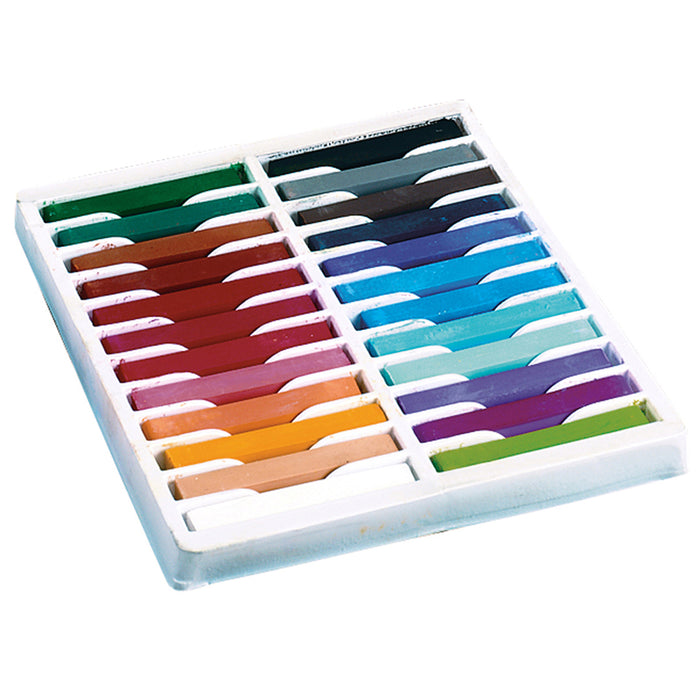 Quality Artists Square Pastels 24 Assorted Pastels - Supplies by Teachers