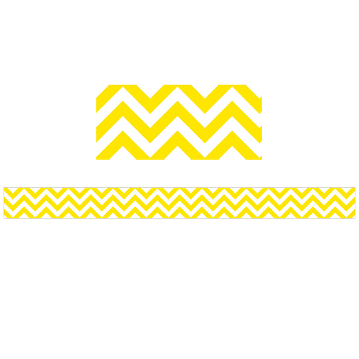 Yellow Chevron Border