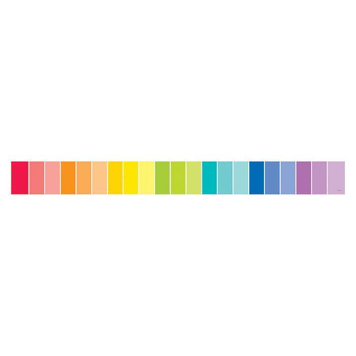 Rainbow Paint Chip Borders - Paint