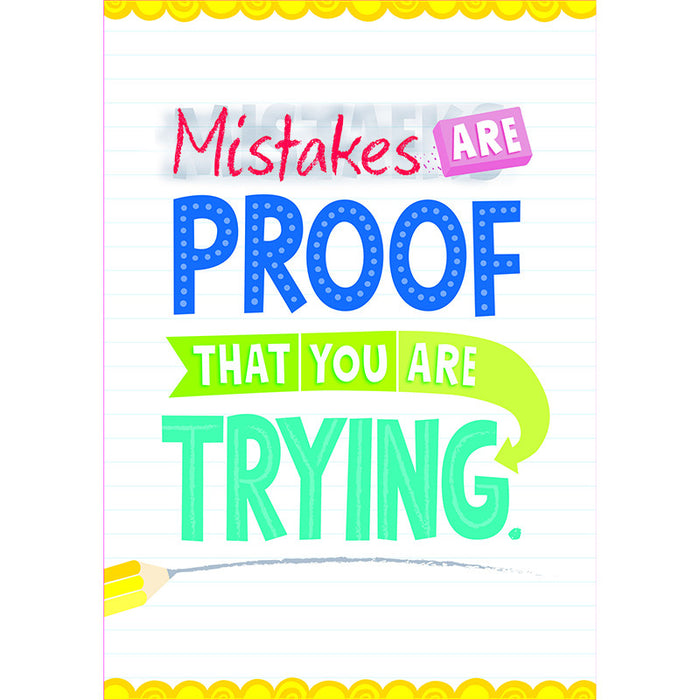 Mistakes Are Proof Inspire U Poster - Supplies by Teachers