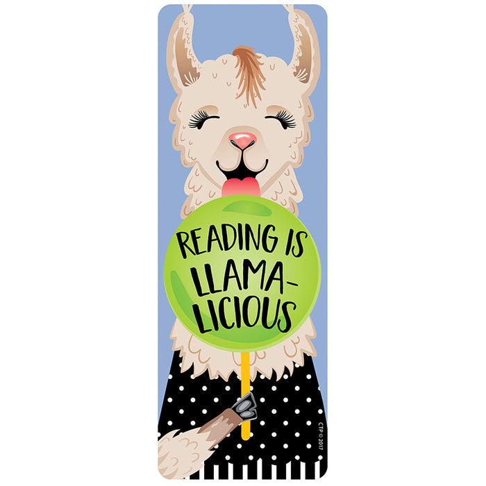 Reading Is Llamalicious Bookmark