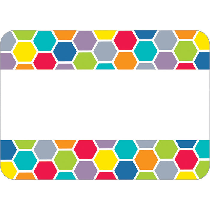 Hexagon Name Tags - Supplies by Teachers