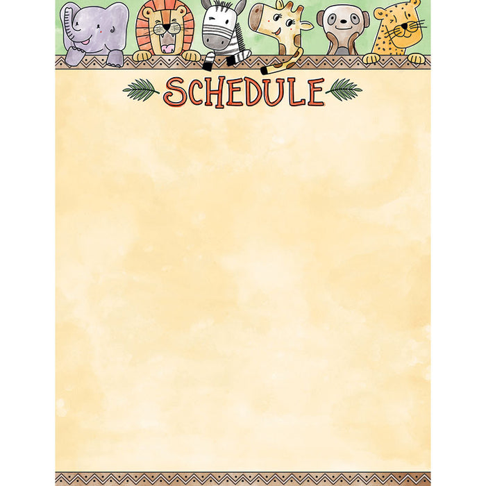 Safari Friends Schedule Chart - Supplies by Teachers