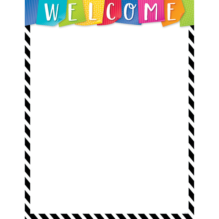Bold Bright Welcome Chart - Supplies by Teachers