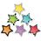 6in Bold Bright Stars Cut Outs Designer