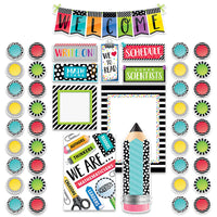 Bold and Bright Welcome Bulliten Board Set