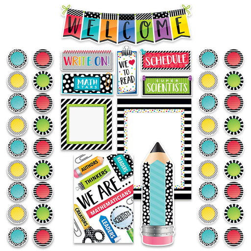 Bold and Bright Welcome Bulliten Board Set - Supplies by Teachers