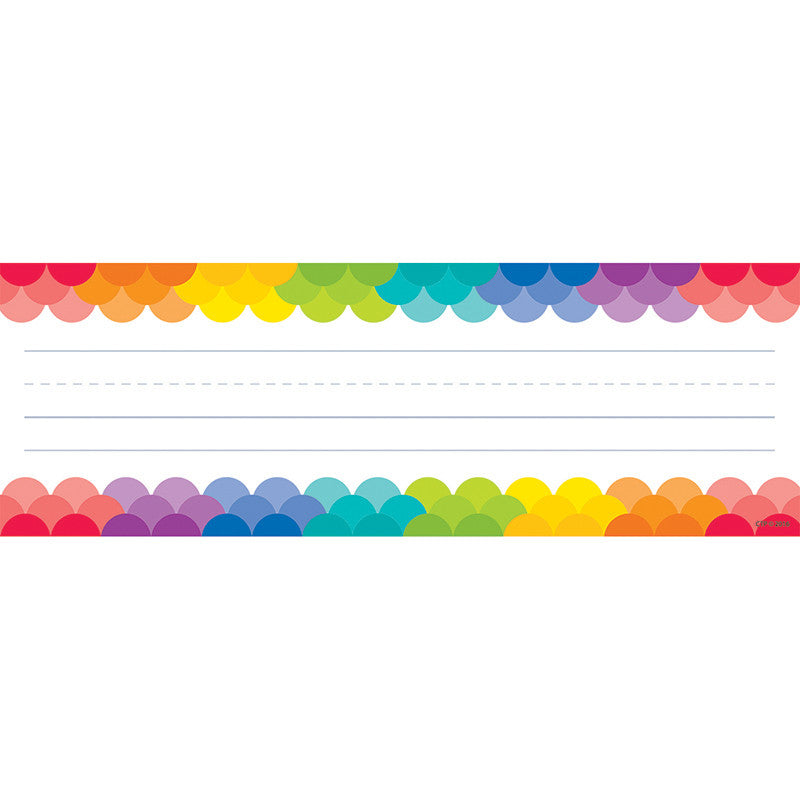 Rainbow Scallops Name Plates - Supplies by Teachers