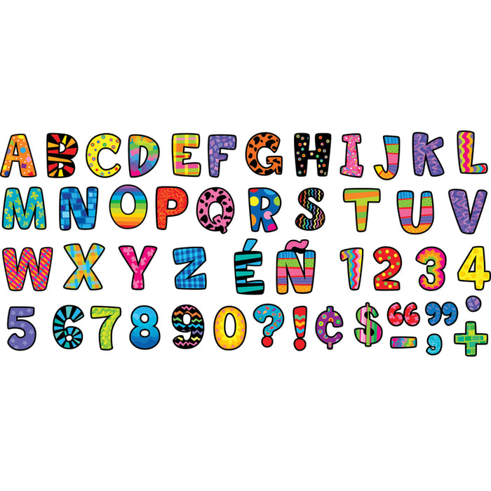 Poppin Patterns Multi-Designs Upper Case Letters Stickers
