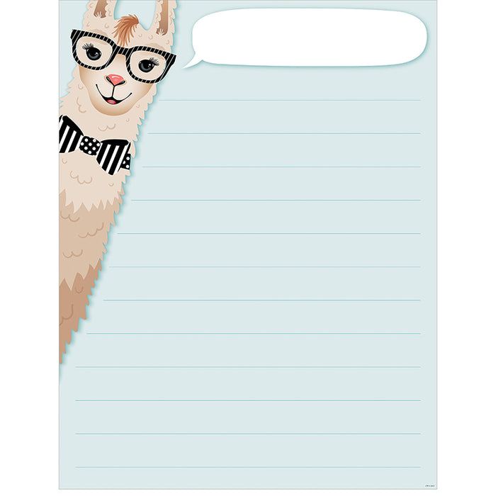 Llama Blank Lined Chart - Supplies by Teachers