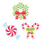 Peppermint Candies 6in Cut Outs Designer