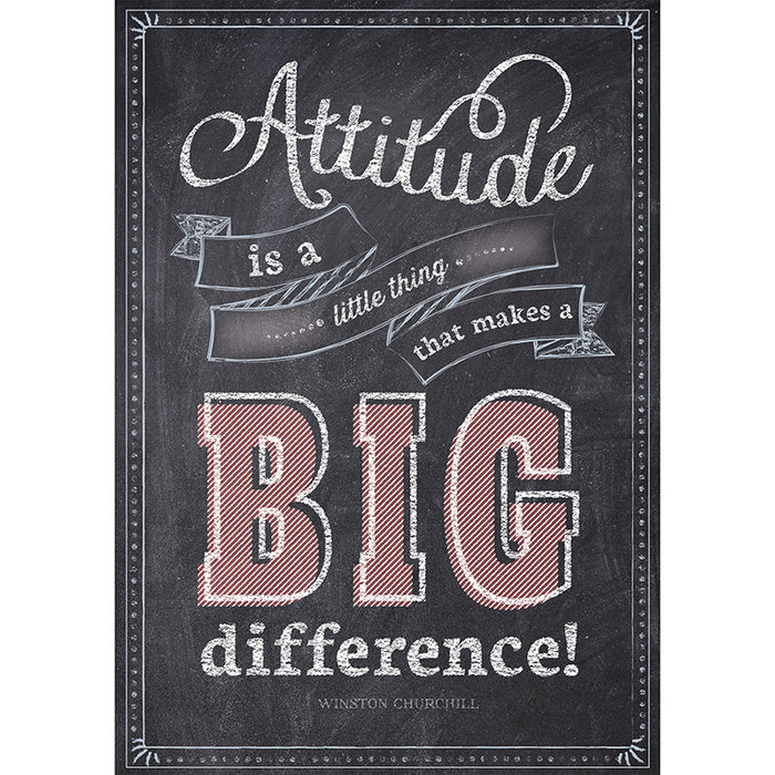 Attitude Is A Little Thing Poster - Supplies by Teachers