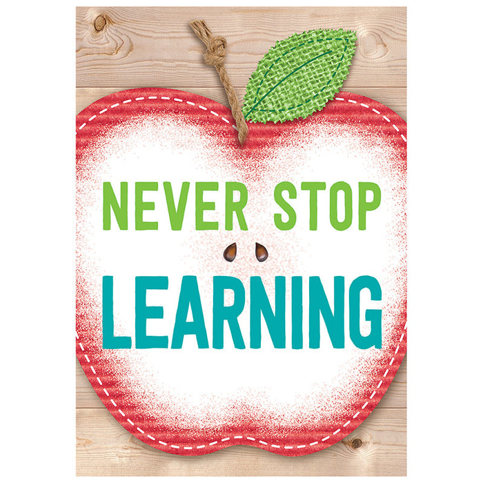 Never Stop Learning Inspire U Poster - Supplies by Teachers