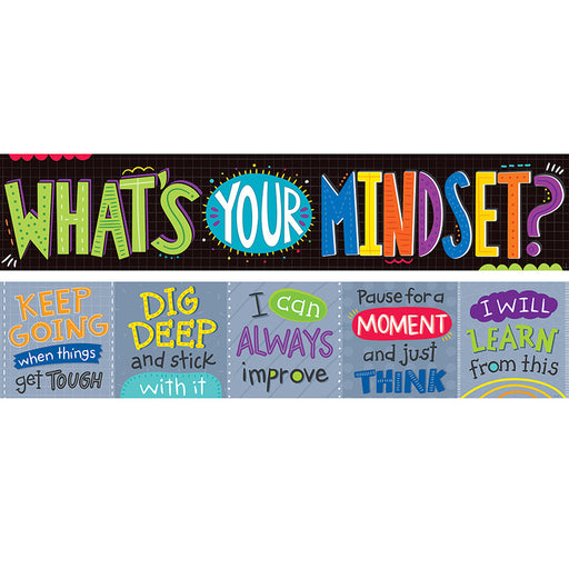 Whats Your Mindset 2 Sided Banner - Supplies by Teachers