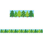 PINE TREES BORDER NO 3 WOODLAND FRIENDS - Supplies by Teachers
