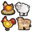 FARM FRIENDS SHAPE STICKERS