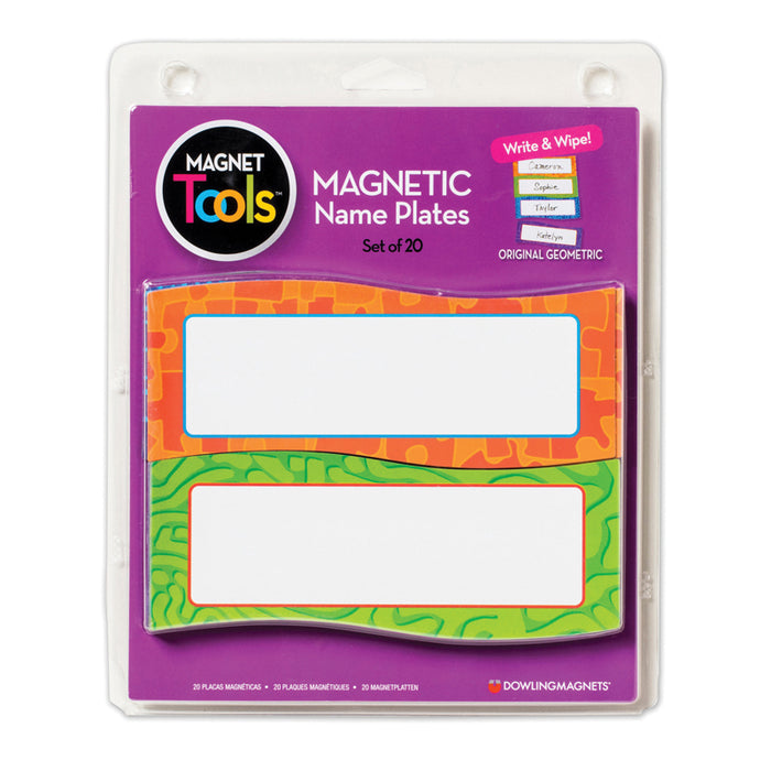 Magnetic Name Plates 20 Pcs