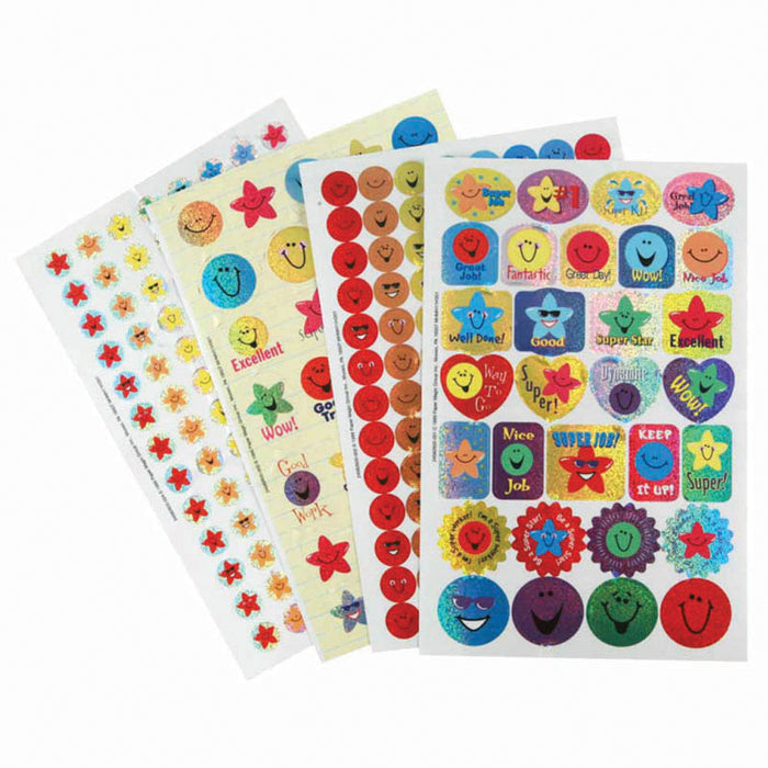 STARS & SMILES SPARKLE STICKER BOOK