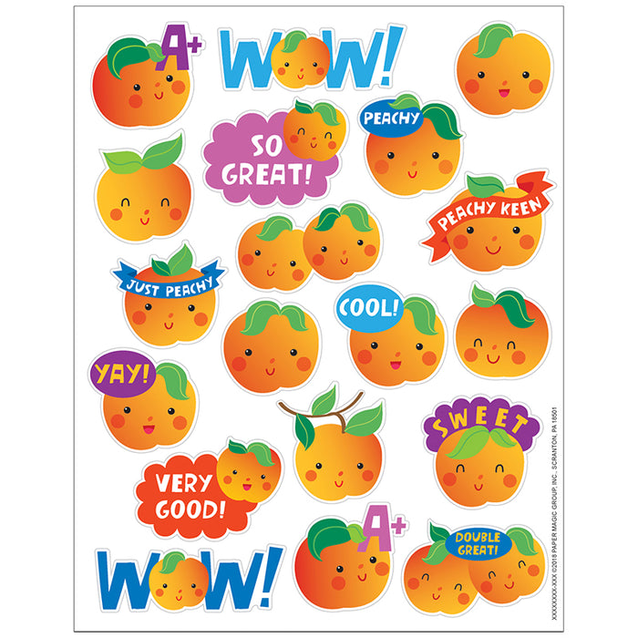 PEACH STICKERS SCENTED