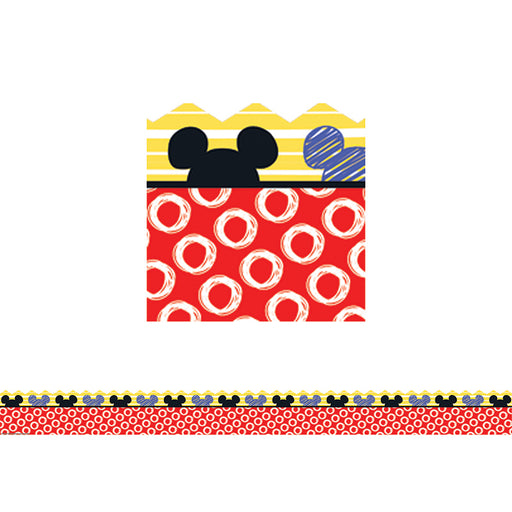 Mickey Color Pop Peeking Head Extra Wide Die-Cut Deco Trim