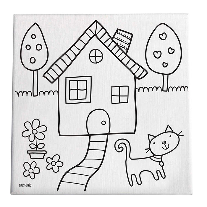 Home Sweet Home Paint/Create Kit Canvas - Supplies by Teachers