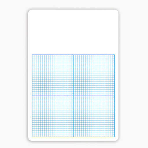 Single 1/4in Graph Dry Erase Board 11 X 16
