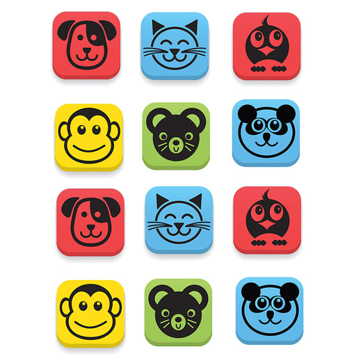Magnetic Erasers Animals Set Of 12