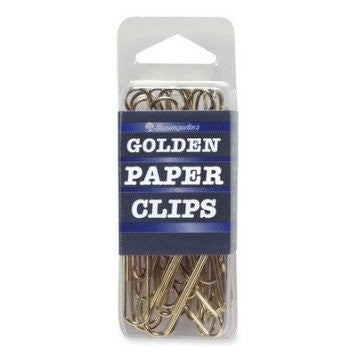 Gold Jumbo Paper Clips - 40 pack - Supplies by Teachers