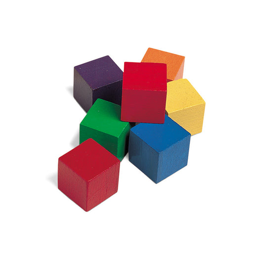 Wooden One Inch Color Cubes 102pk