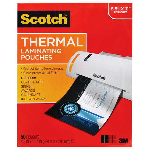 Thermal Laminating Pouches Letter Size 50/Pk - Supplies by Teachers