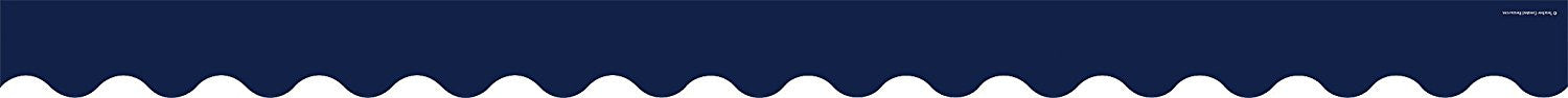 Navy Scalloped Border Trim - Supplies by Teachers