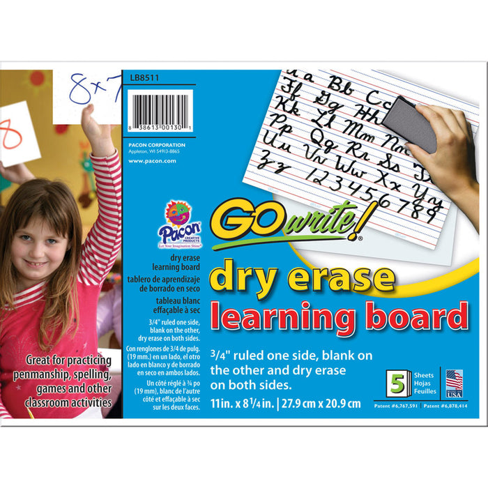 Gowrite Dry Erase Learning Board 5 Pk