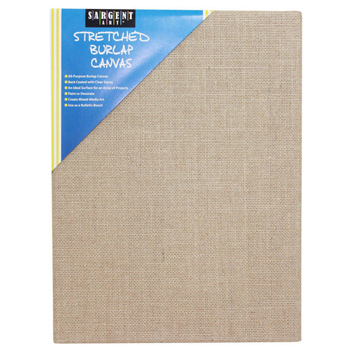 Stretched Canvas 9 X 12 Burlap - Supplies by Teachers