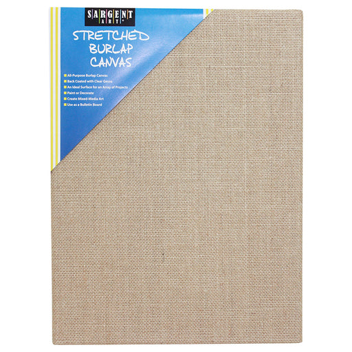 Stretched Canvas 12 X 16 Burlap - Supplies by Teachers