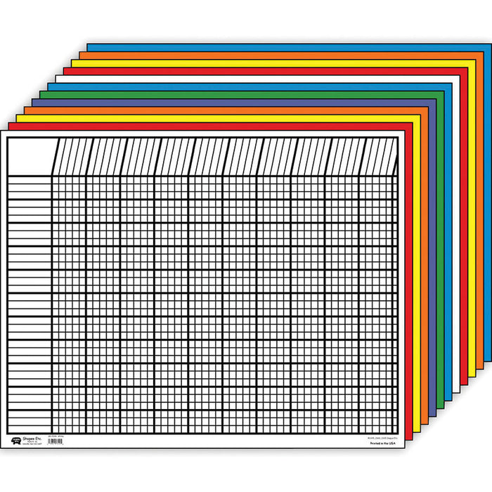 Horizontal Chart Set 12/Pk