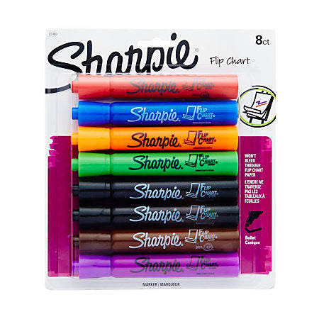 Sharpie Flip Chart Markers 8 Pack - Supplies by Teachers