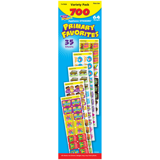APPLAUSE STICKERS 700/PK PRIMARY