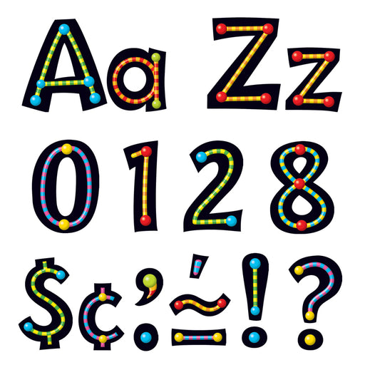 Alpha-Beads Ready Letters 4in Upper Lowercase Combo