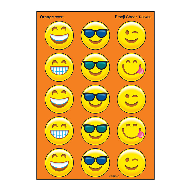 EMOJI CHEER STINKY STICKERS LARGE
